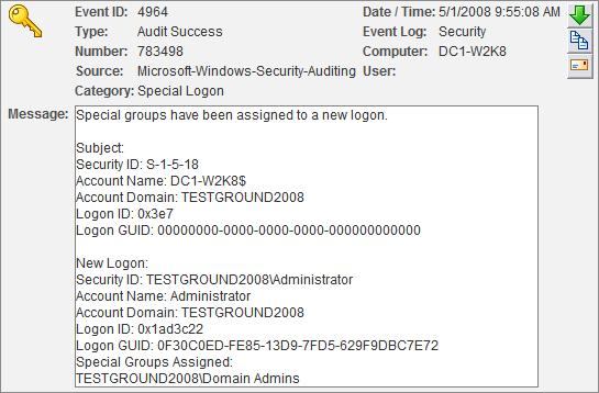 Special Groups Logon 4964 Screenshot