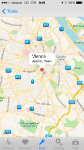 Location of IP address after GEO lookup of www.unvienna.org