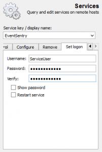Updating service credentials