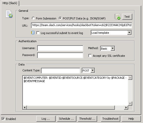 Configuring data to submit