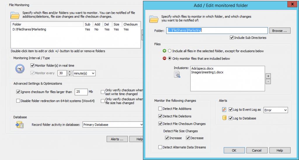 File Monitoring Configuration