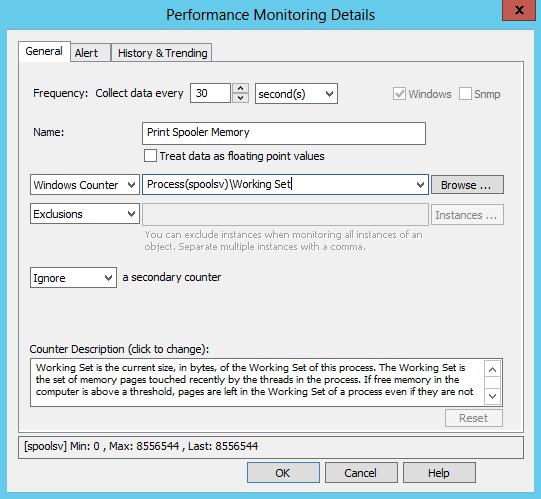 Performance Counter Setup