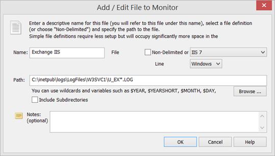 IIS Log File Setup
