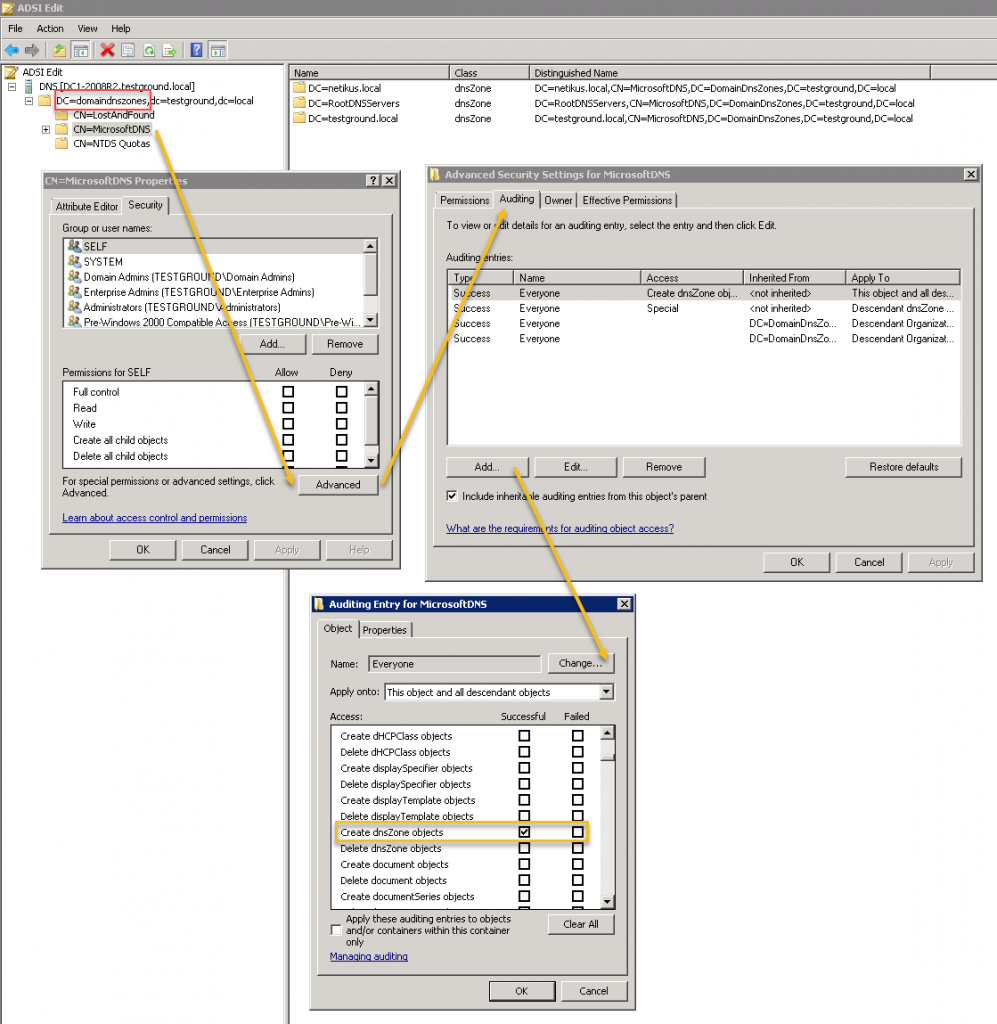 Auditing DNS Server Changes On Windows 2008/2008R2/2012
