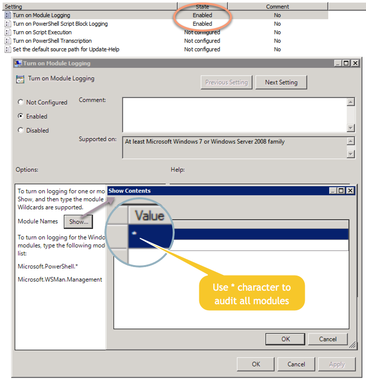 PowerShell auditing with Group Policy