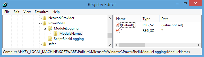 PowerShell Registry Logging