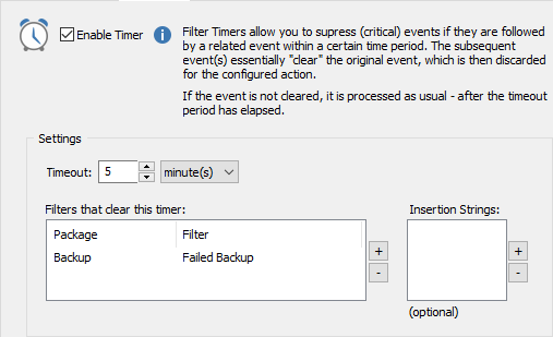 Filter Timers