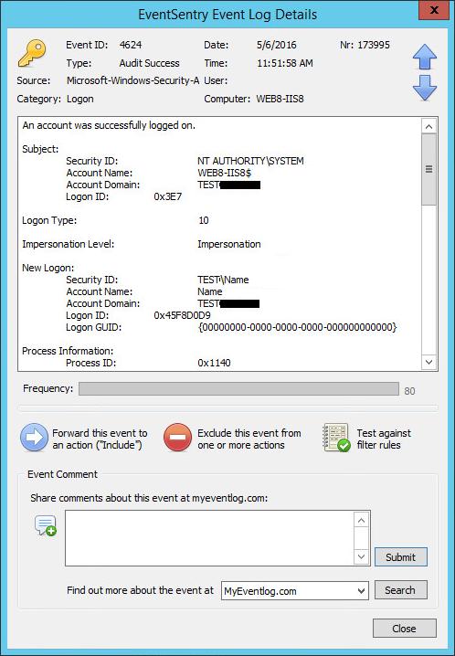 Email notification when user logs on via remote desktop | Step 2
